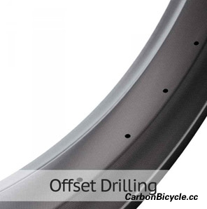 carbon fat bike rim offset drilling