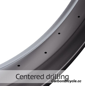 carbon fat bike rim centered drilling