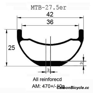CARBONBICYCLE MTB bike wheels 27.5er