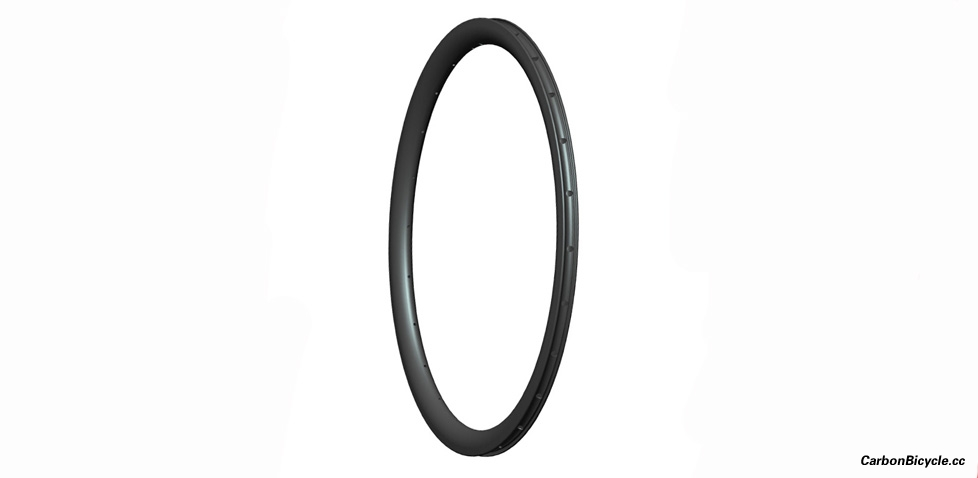 [NEW]Asymmetric Road disc CX Carbon Rims 38mm depth Clincher Tubeless Ready