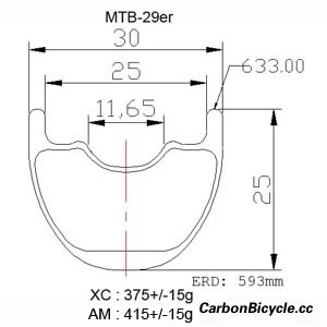 CARBONBICYCLE 29er mountain bike