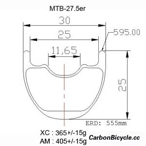 CARBONBICYCLE 27.5er mountain bike