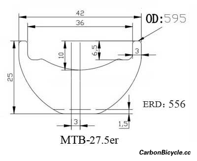 CARBONBICYCLE MTB 27.5er rim