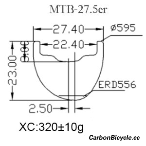 CARBONBICYCLE Asymmetric 27.5er rims