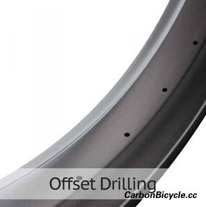 carbon fat bike rim offset drilling