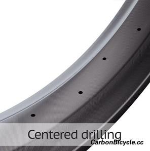 carbon fat bike rim centered drilling