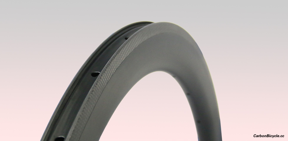 50mm deep carbon 700C 25mm wide road rim clincher U shape tubeless compatible high TG resin surface
